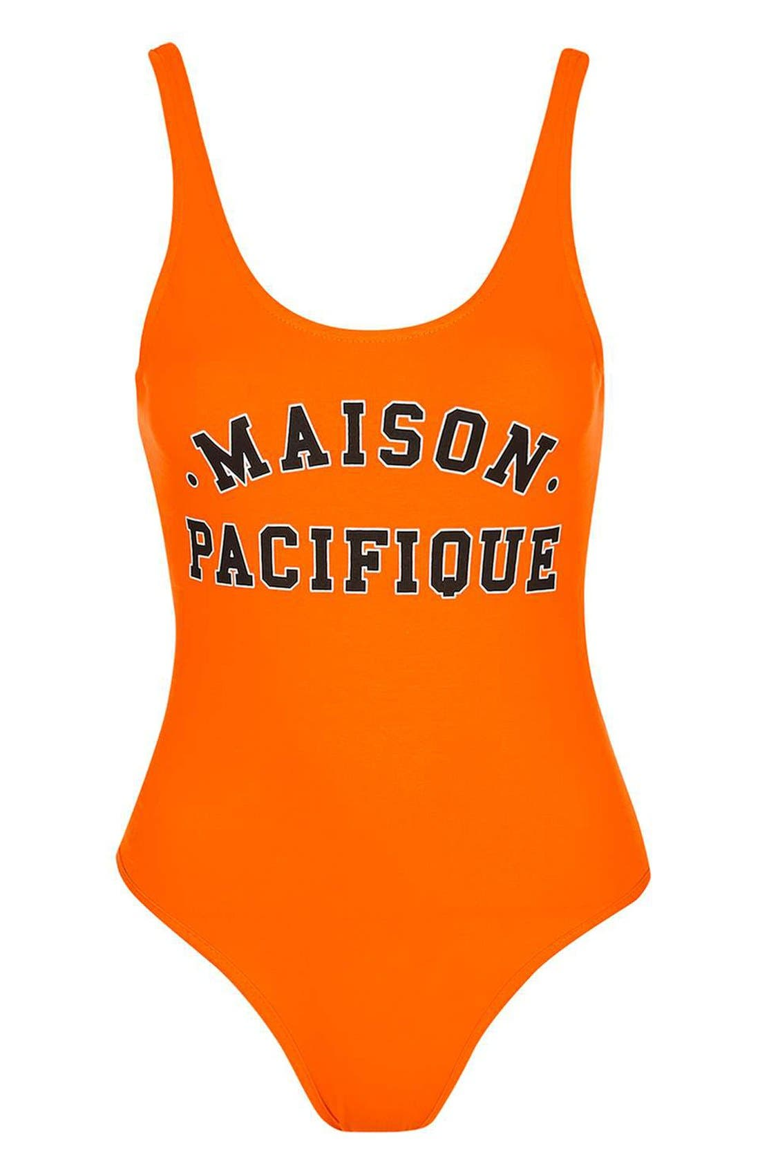 Alternate Image 4  - Topshop 'Maison Pacifique' Graphic Scoop Neck Bodysuit