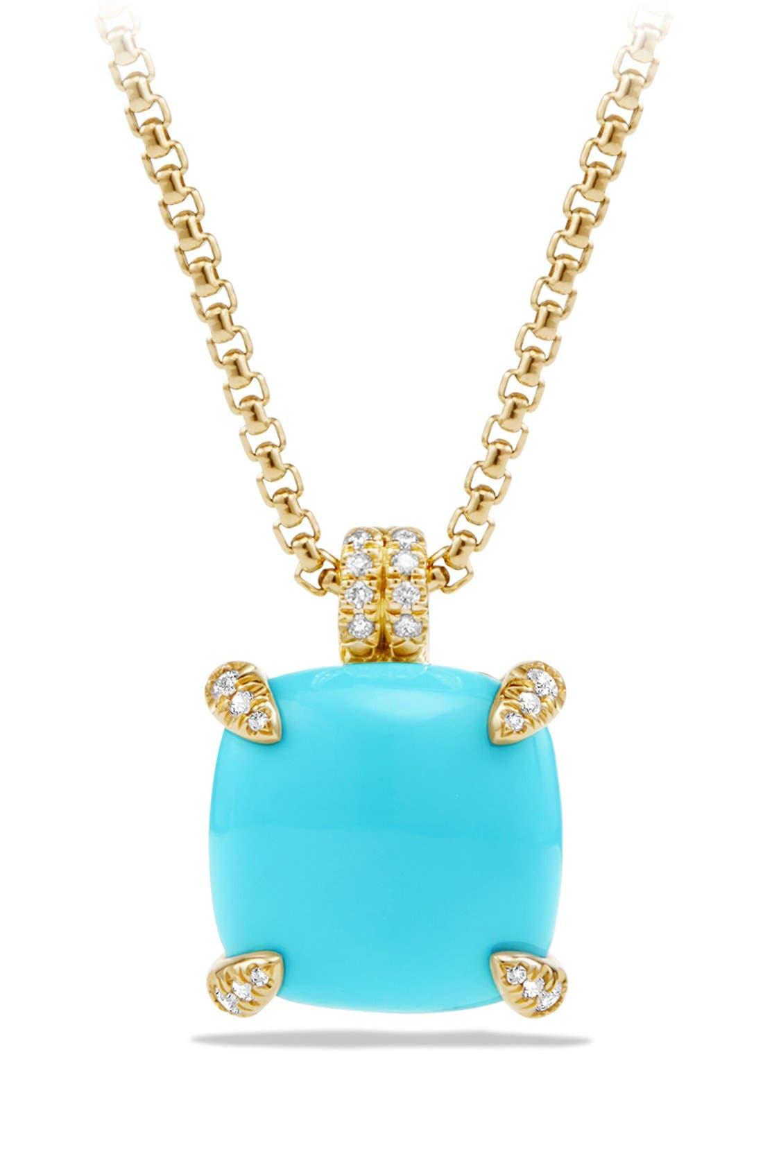 DAVID YURMAN Châtelaine Pendant Necklace with Diamonds in 18K Gold