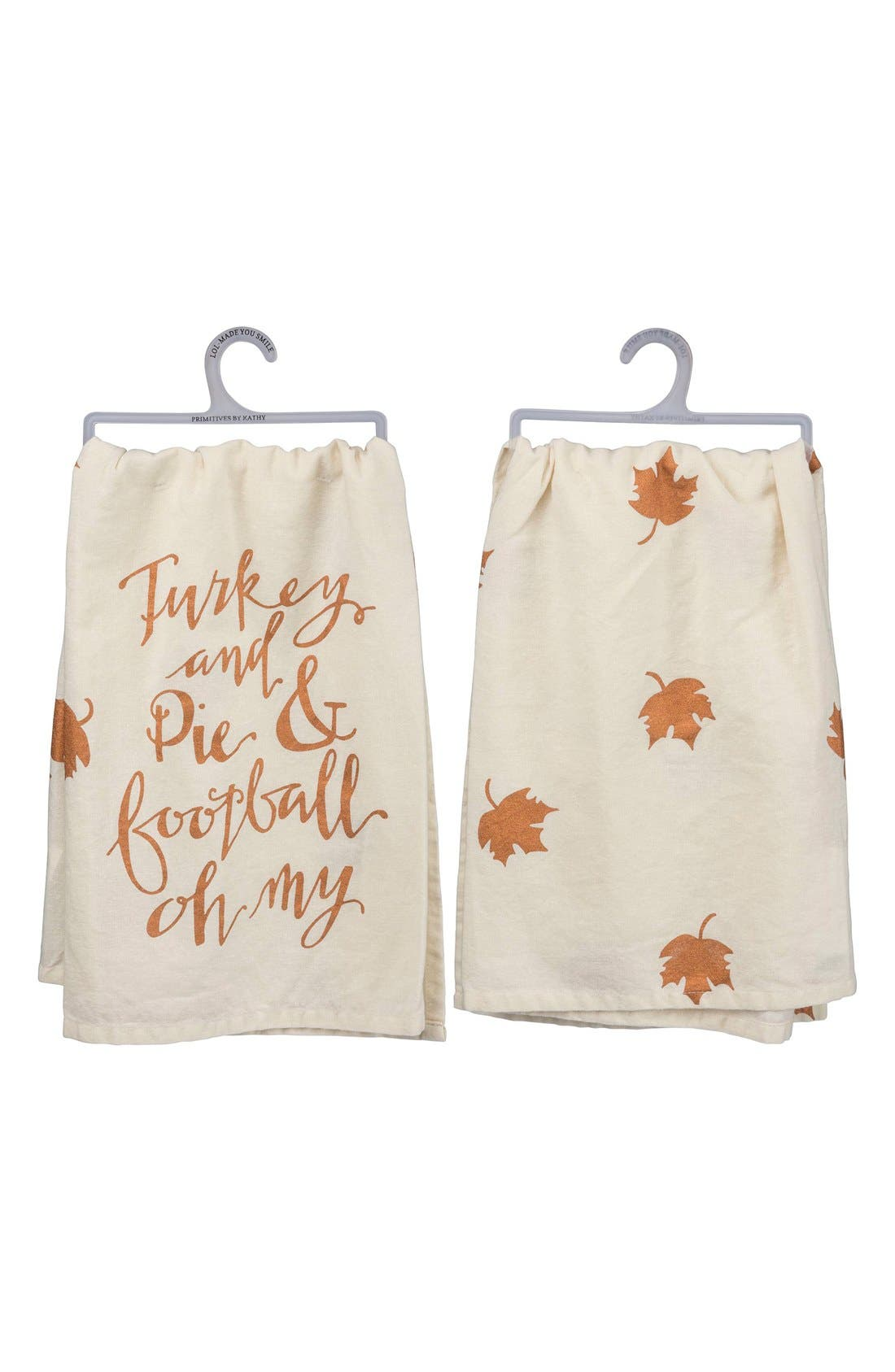 Main Image - Primitives by Kathy 'Turkey and Pie and Football Oh My' Dish Towel