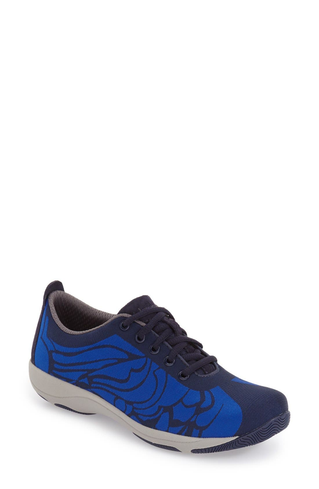 'Hanna' Sneaker,                             Main thumbnail 1, color,                             Blue Fabric
