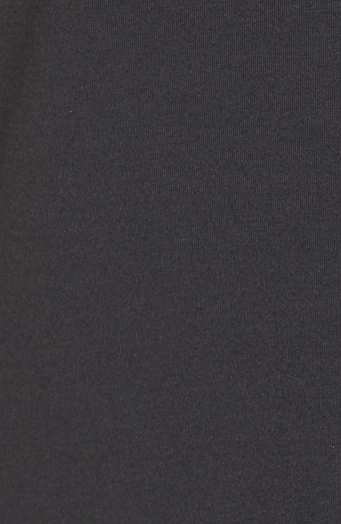 'Tara' Print Jersey A-Line Dress,                             Alternate thumbnail 6, color,                             Black