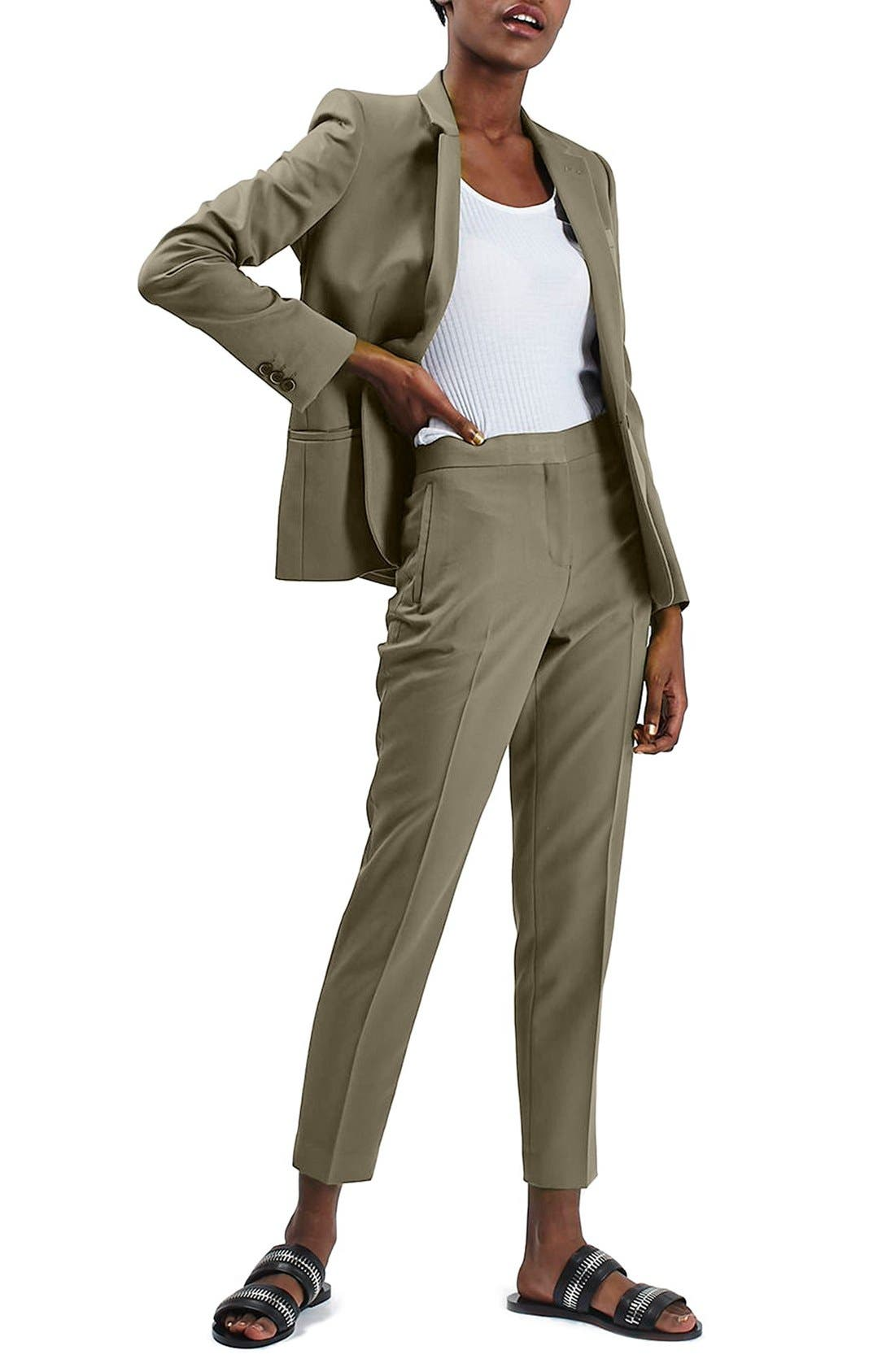 Alternate Image 2  - Topshop Crop Fitted Trousers