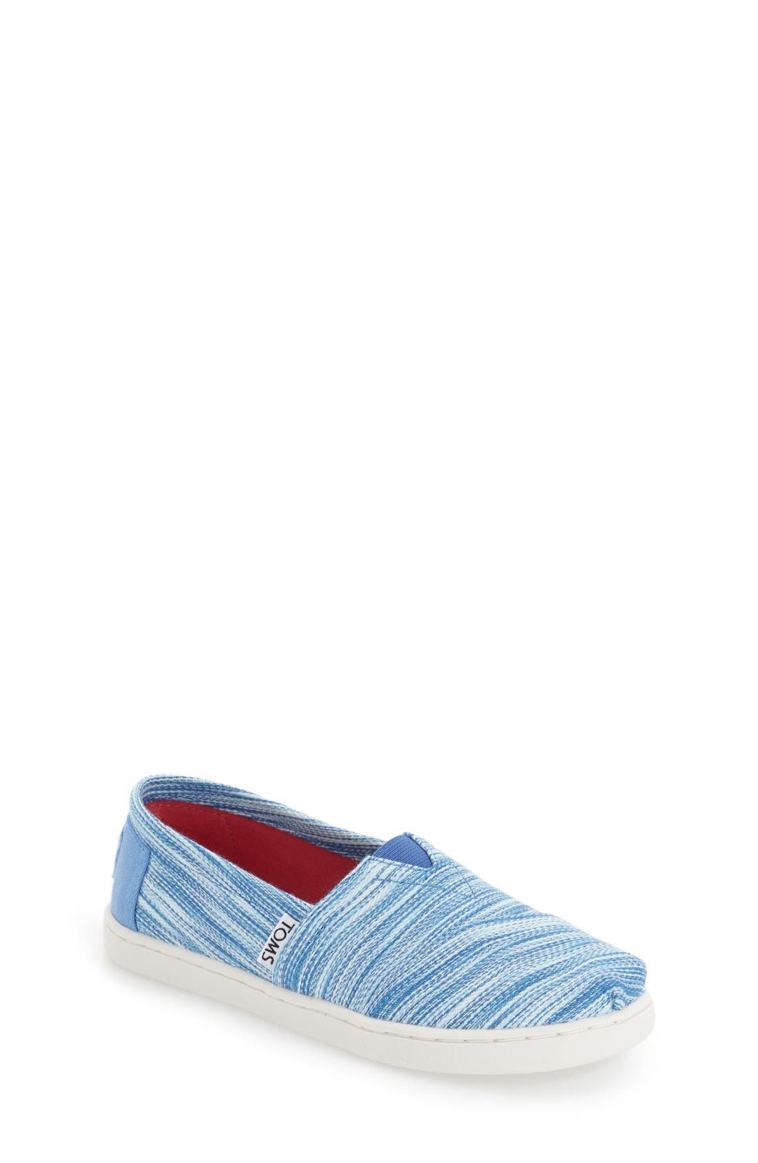 Main Image - TOMS 'Classic - Blue Space Dye' Slip-On (Baby, Walker, Toddler, Little Kid & Big Kid)