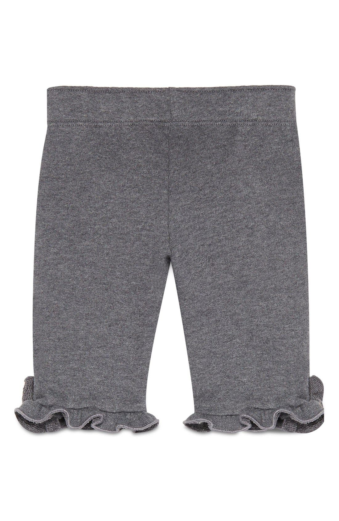 Bee Ruffle Hem Jogger Pants,                             Alternate thumbnail 2, color,                             Grey/ Red