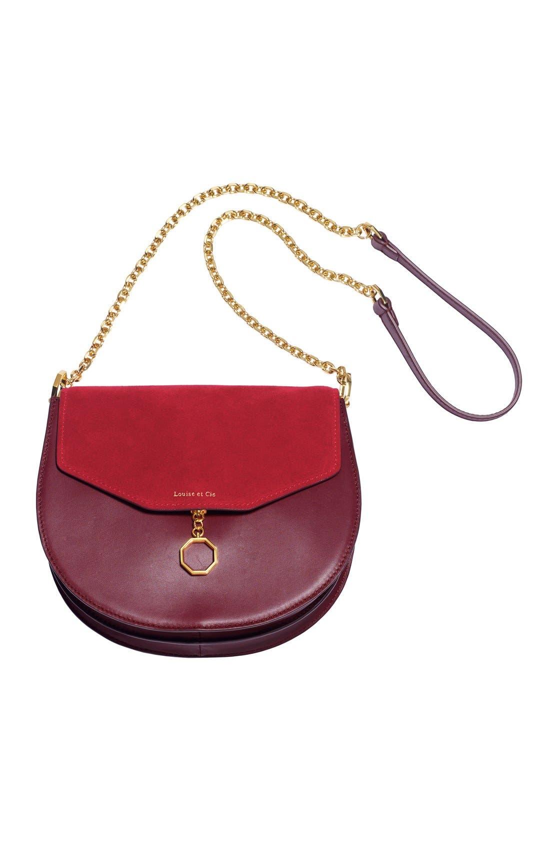 Alternate Image 7  - Louise et Cie 'Jael' Suede & Leather Shoulder Bag