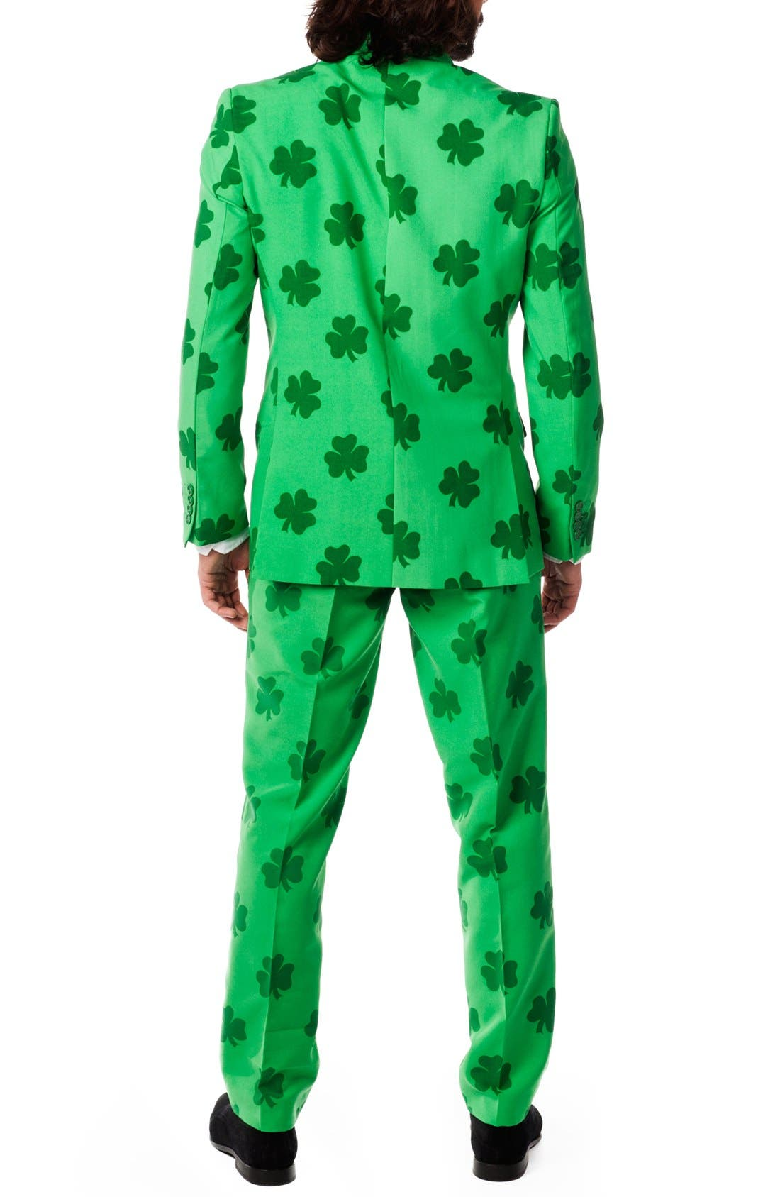 'Patrick' Trim Fit Two-Piece Suit with Tie,                             Alternate thumbnail 2, color,                             Green