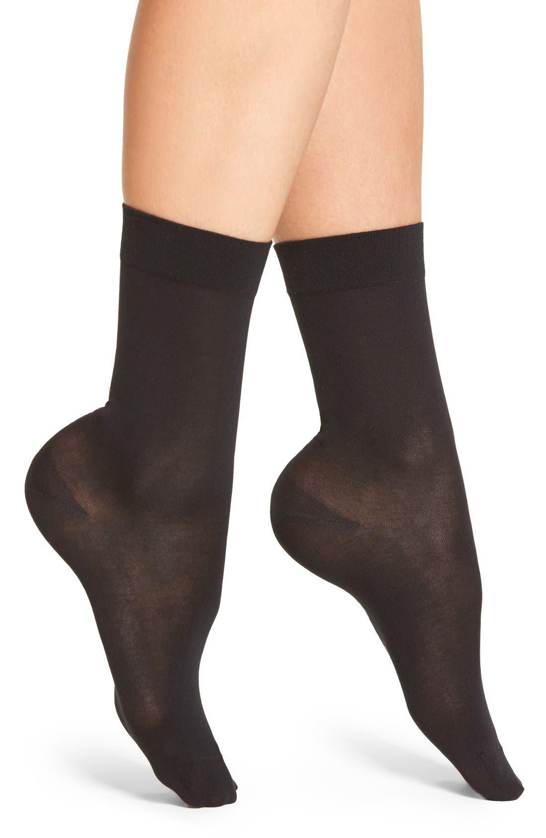 Cotton Blend Trouser Socks,                         Main,                         color, Black