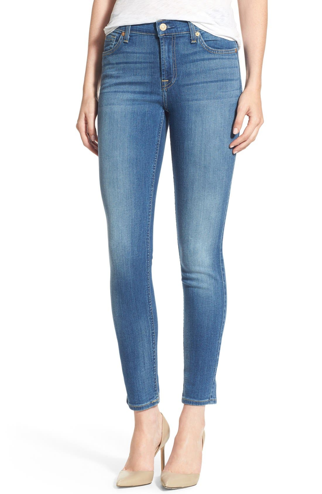 Main Image - 7 For All Mankind® Skinny Ankle Jeans (Supreme Vibrant Blue)