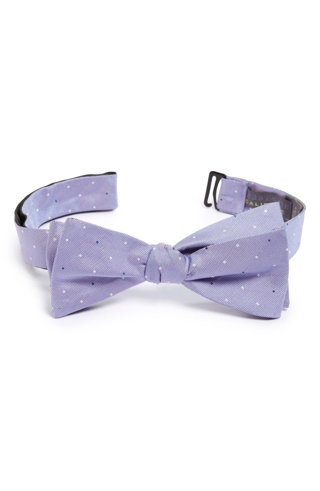 Main Image - Calibrate 'City Pin Dot' Texture Silk Bow Tie