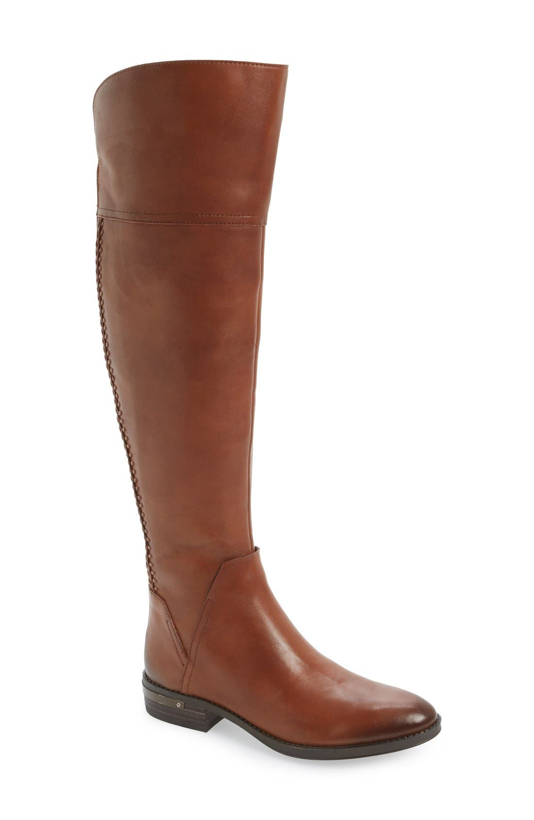 'Pedra' Over the Knee Boot,                             Main thumbnail 1, color,                             Gingerbread Leather