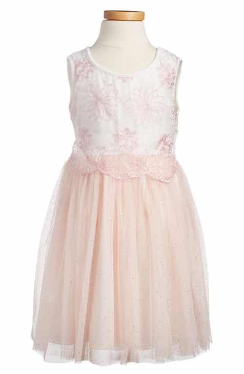 e92a6ba8655 Popatu Embroidered Tulle Dress (Toddler Girls