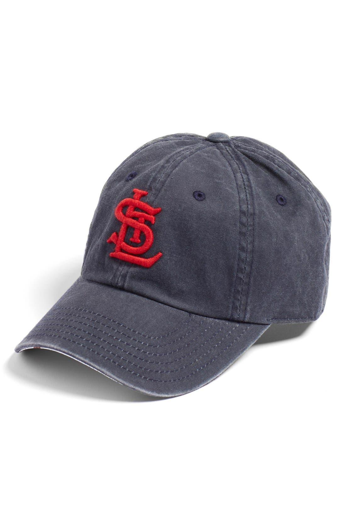 New Raglan St. Louis Cardinals Baseball Cap,                         Main,                         color, Navy