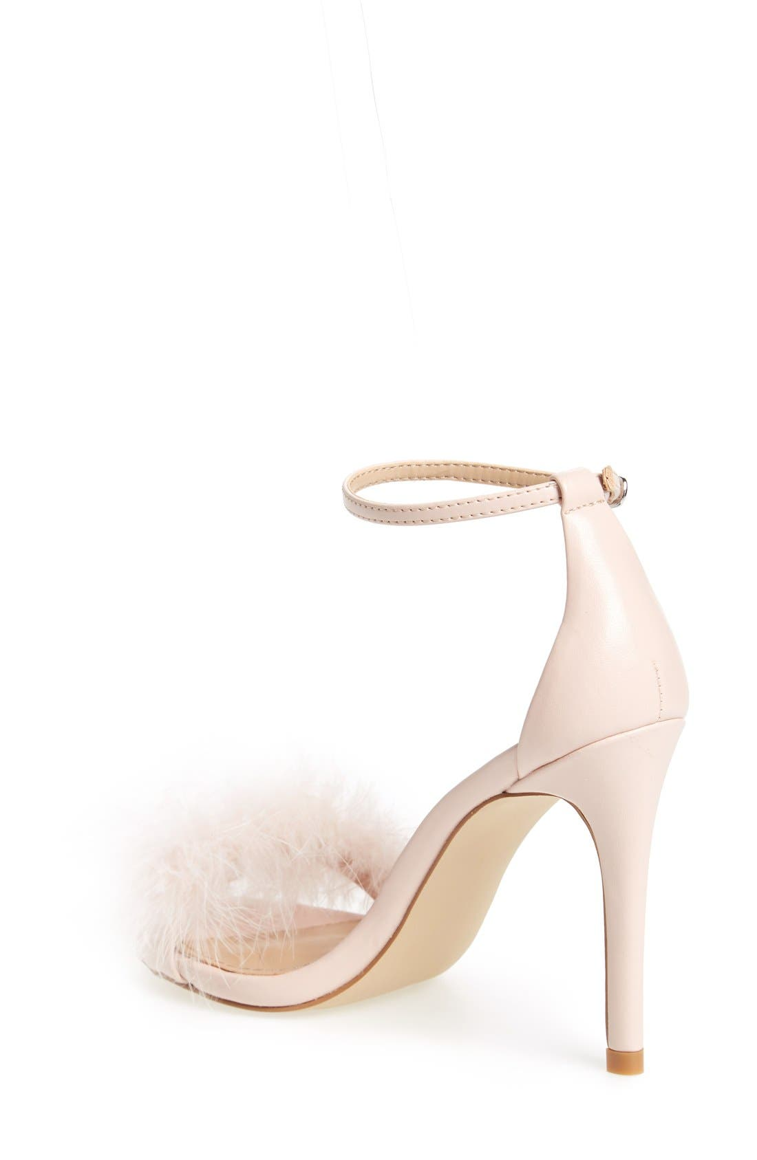 Alternate Image 2  - Steve Madden 'Scarlett' Marabou Evening Sandal (Women)