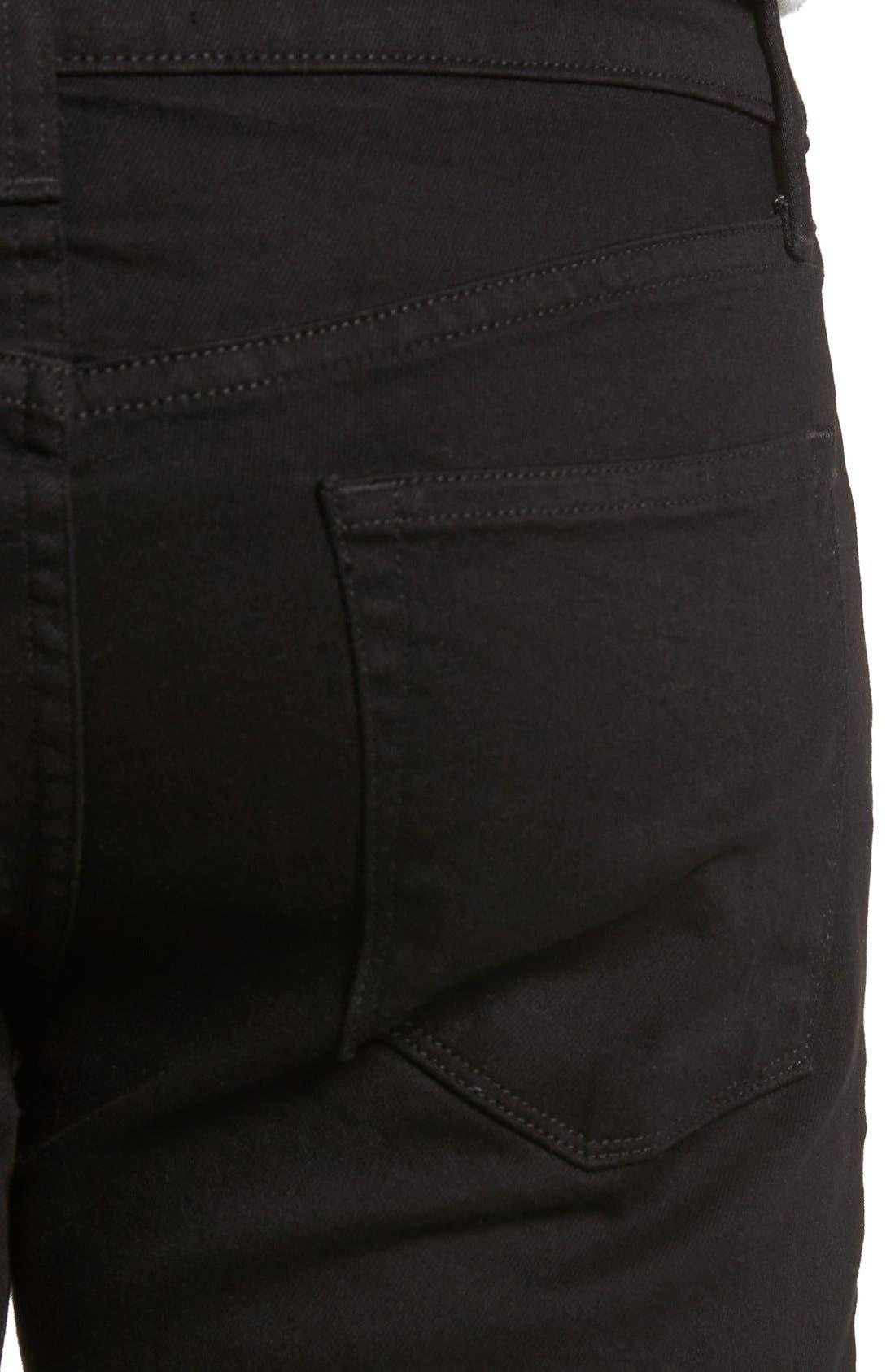 Tyler Slim Fit Jeans,                             Alternate thumbnail 4, color,                             Trivor Black