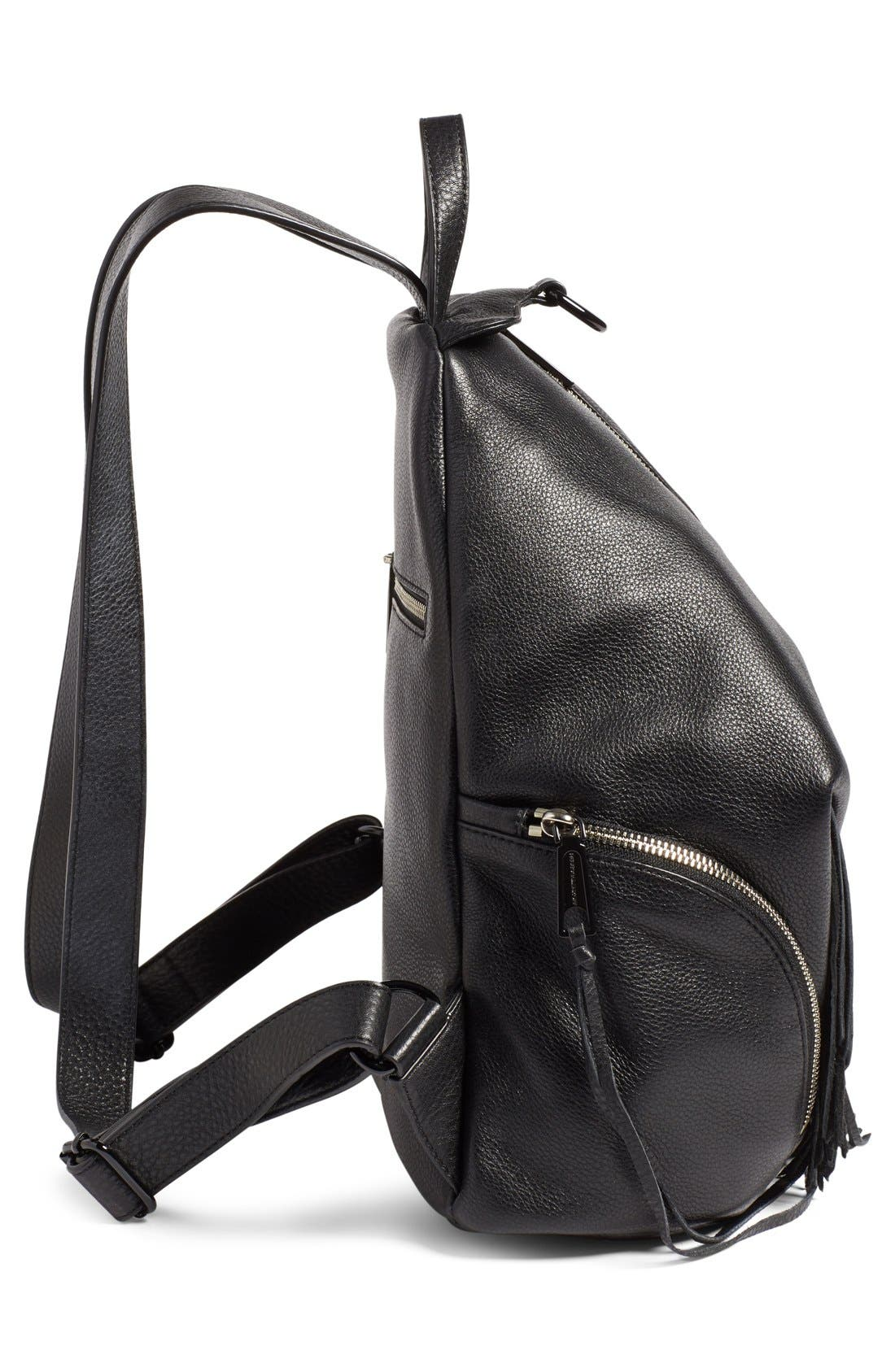 'Fringe Julian' Backpack,                             Alternate thumbnail 5, color,                             Black