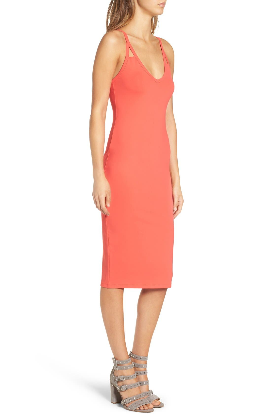Alternate Image 3  - Leith Cutout Strap Body-Con Dress