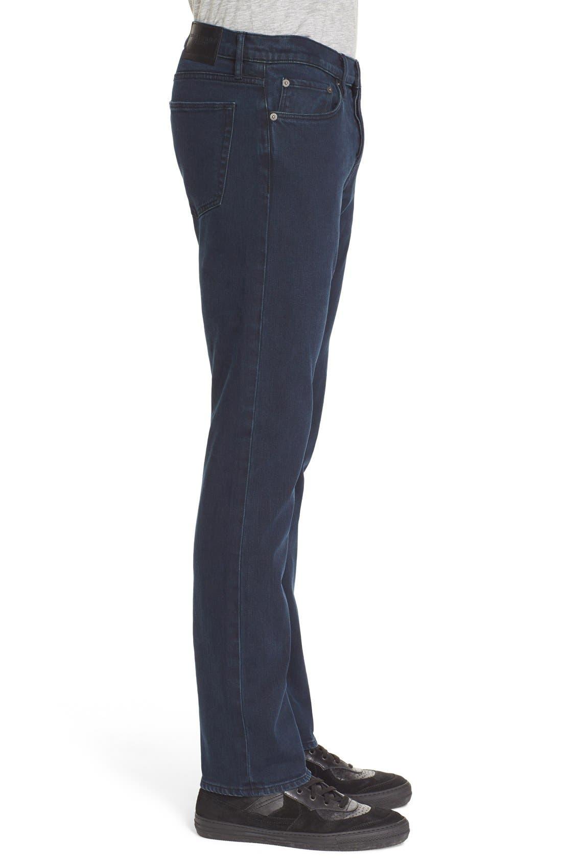 Straight Leg Jeans Jeans,                             Alternate thumbnail 3, color,                             Dark Indigo