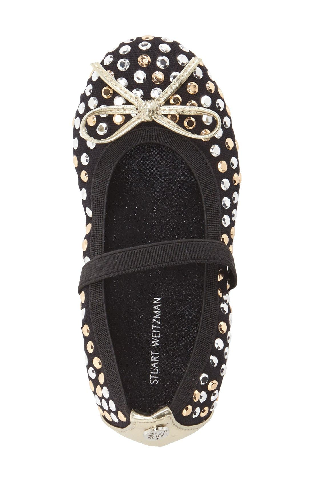 Alternate Image 3  - Stuart Weitzman 'Fannie Tara' Studded Flat (Toddler)
