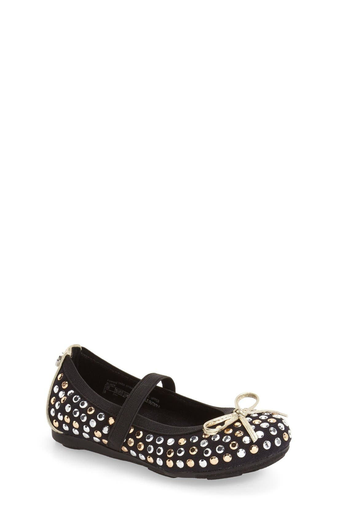 Alternate Image 1 Selected - Stuart Weitzman 'Fannie Tara' Studded Flat (Toddler)