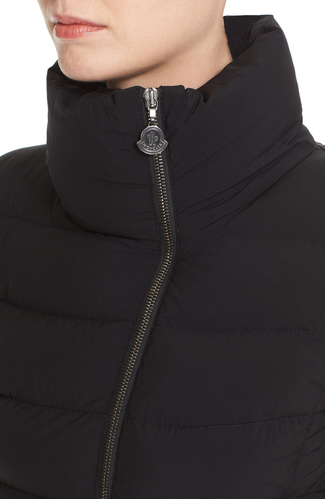 Alternate Image 6  - Moncler 'Antigone' Water Resistant Down Moto Jacket