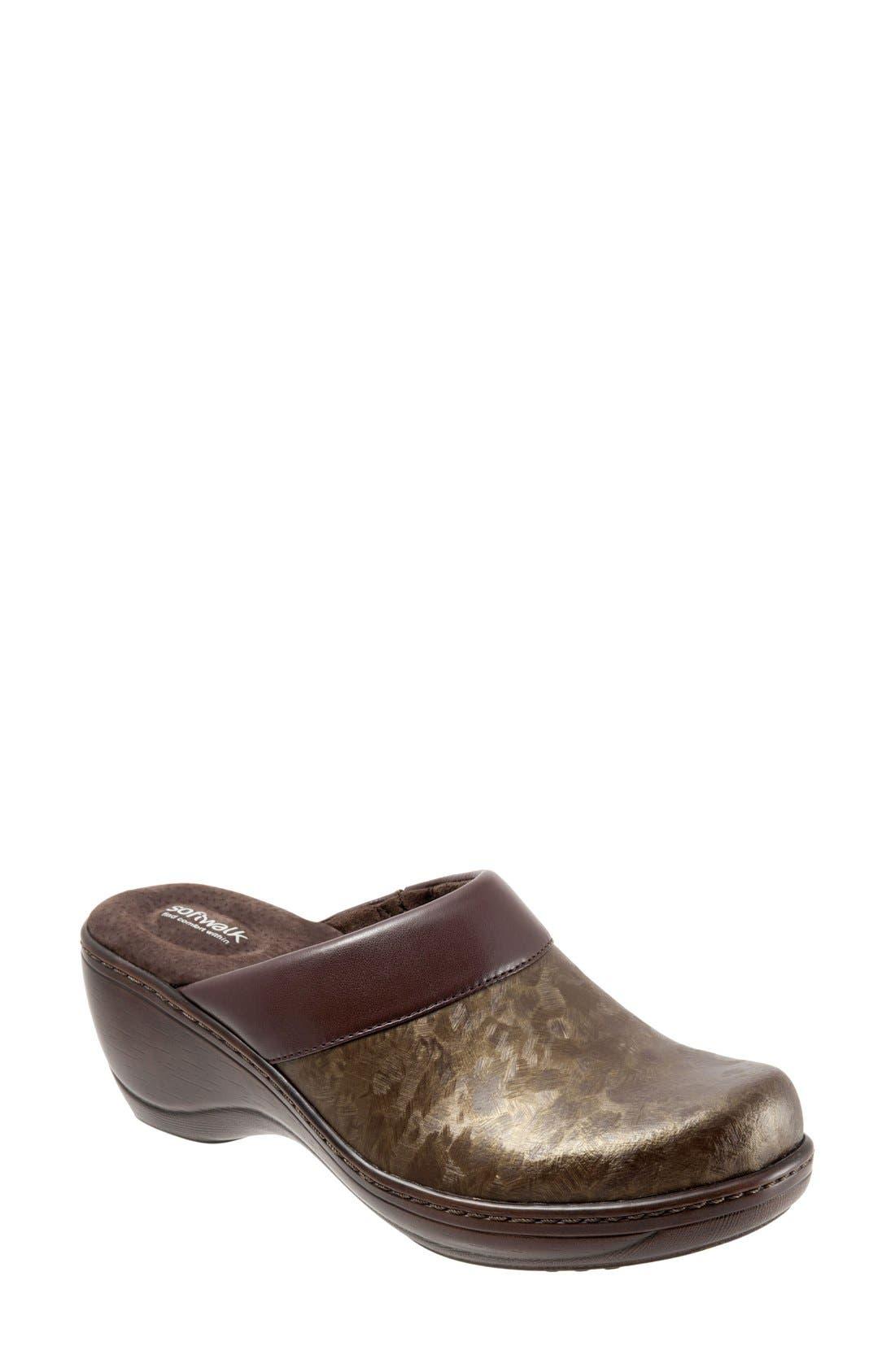 'Murietta' Clog,                         Main,                         color, Bronze Leather