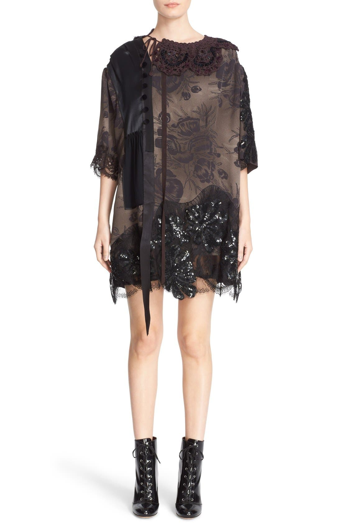 Main Image - MARC JACOBS 'Shadow Tulip' Embellished Shift Dress