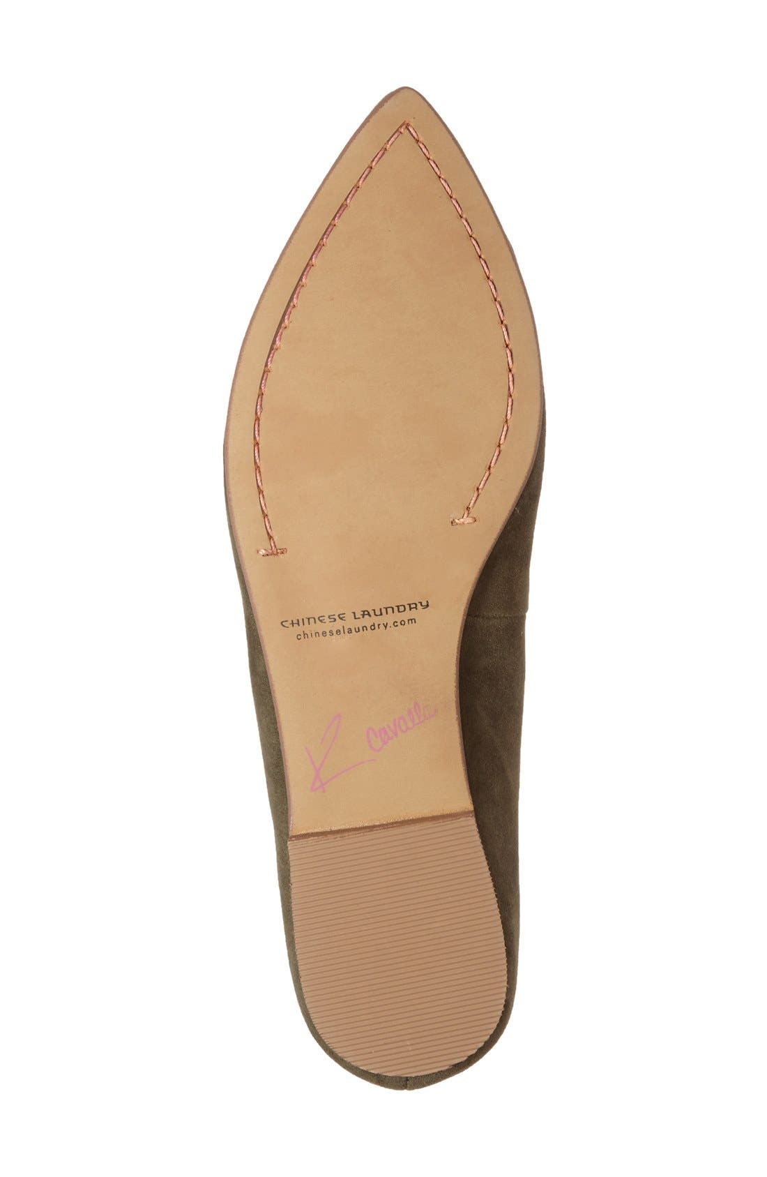 'Chandy' Loafer,                             Alternate thumbnail 4, color,                             Olive Suede