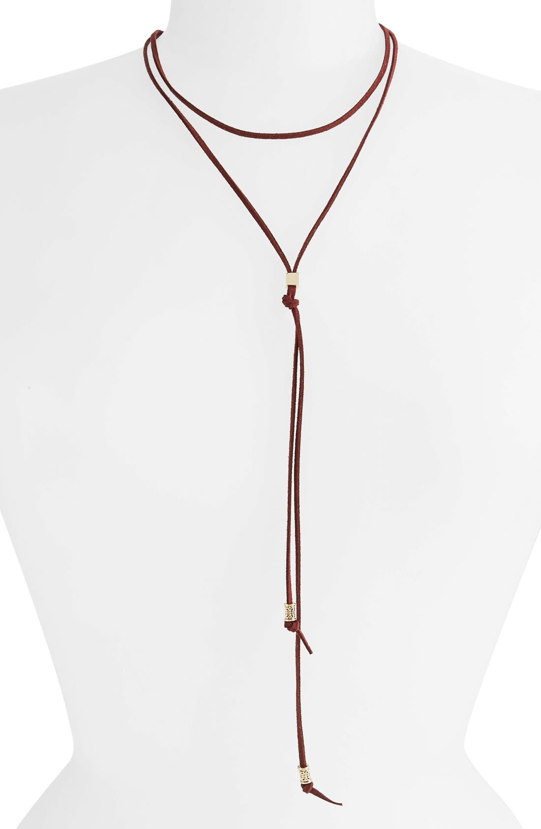 Main Image - BP. Suede Bolo Necklace