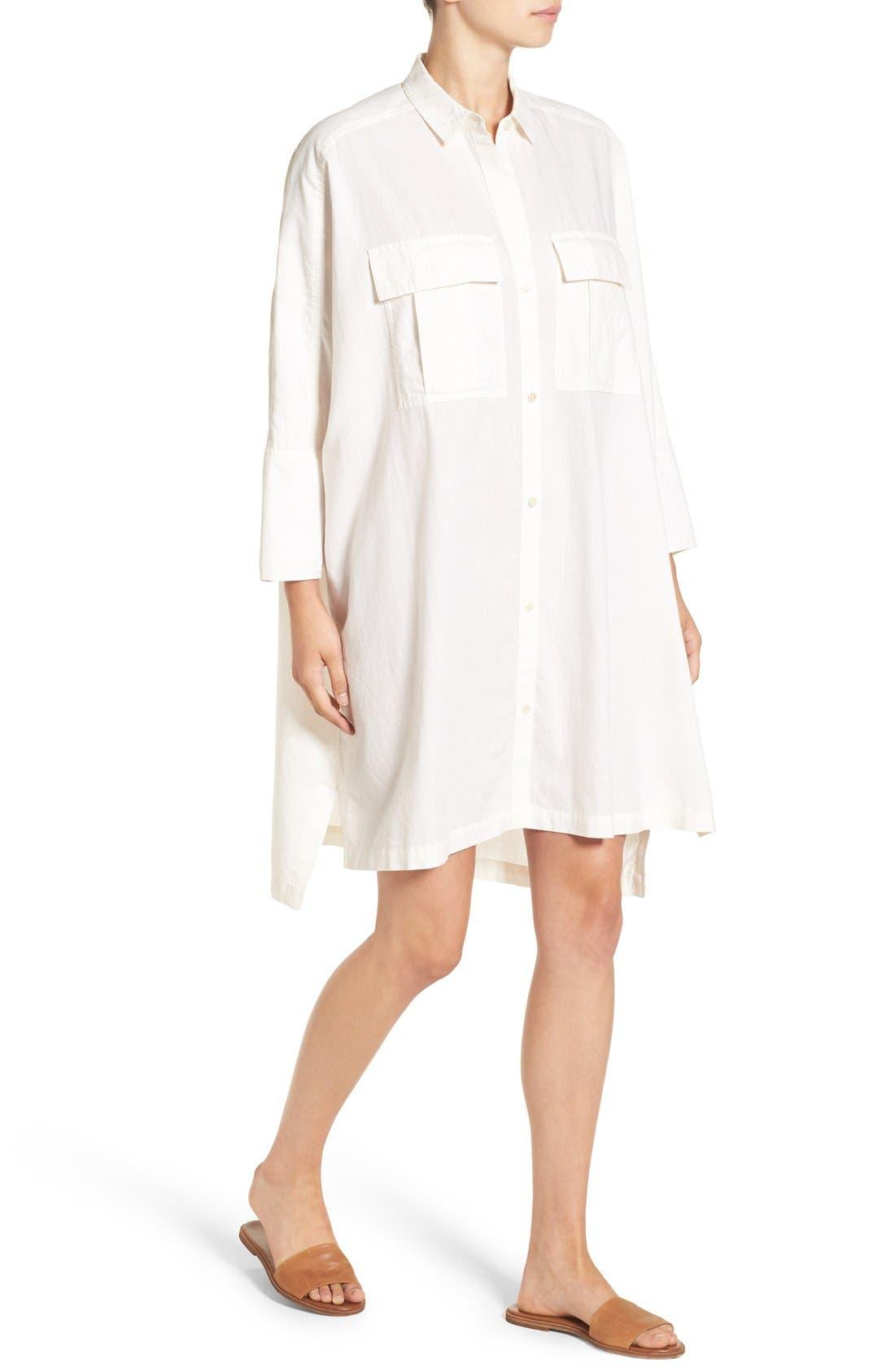 Alternate Image 4  - James Perse Cotton Shirtdress