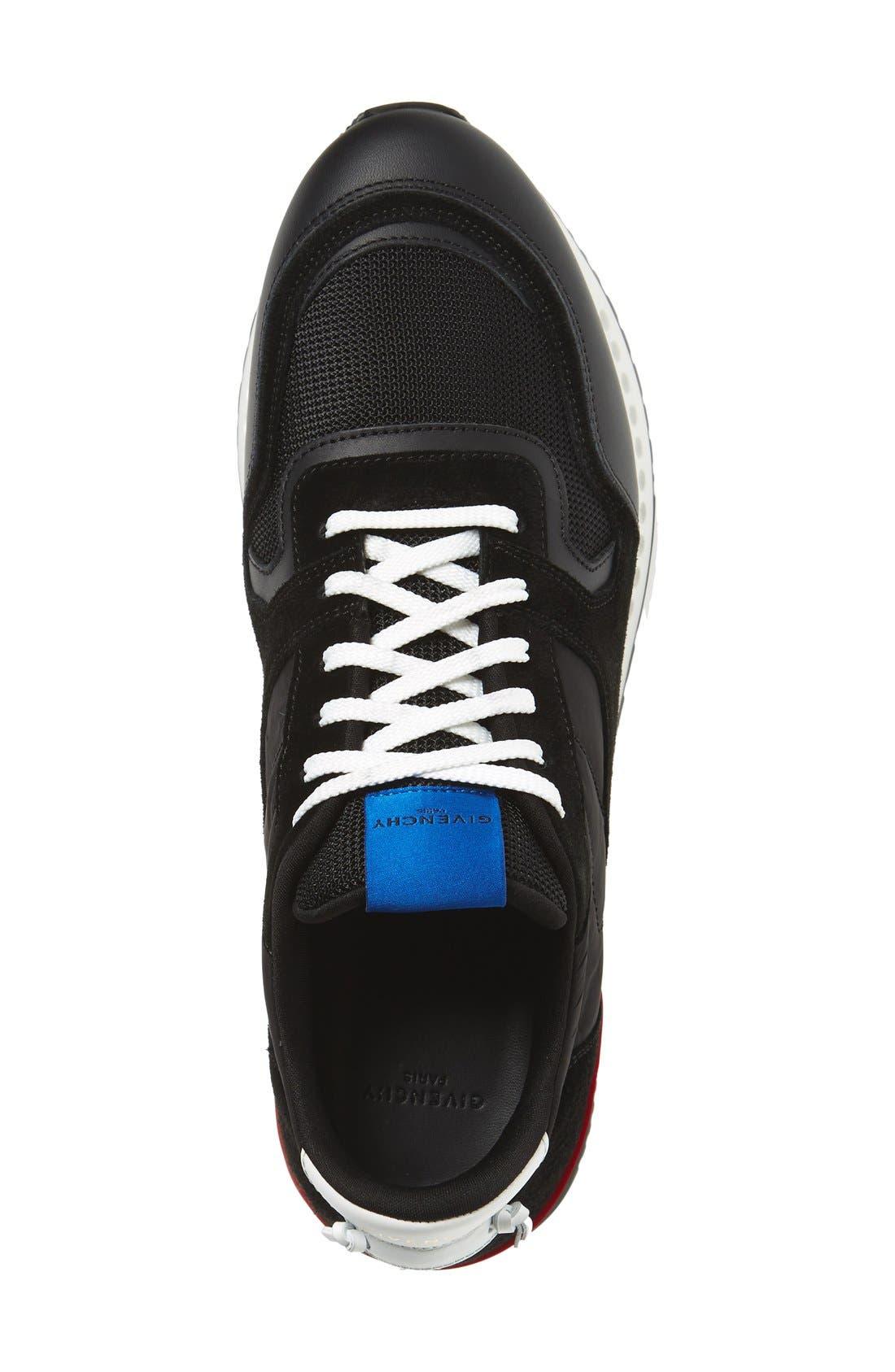 'Active Runner' Sneaker,                             Alternate thumbnail 3, color,                             Black Nylon/ Suede