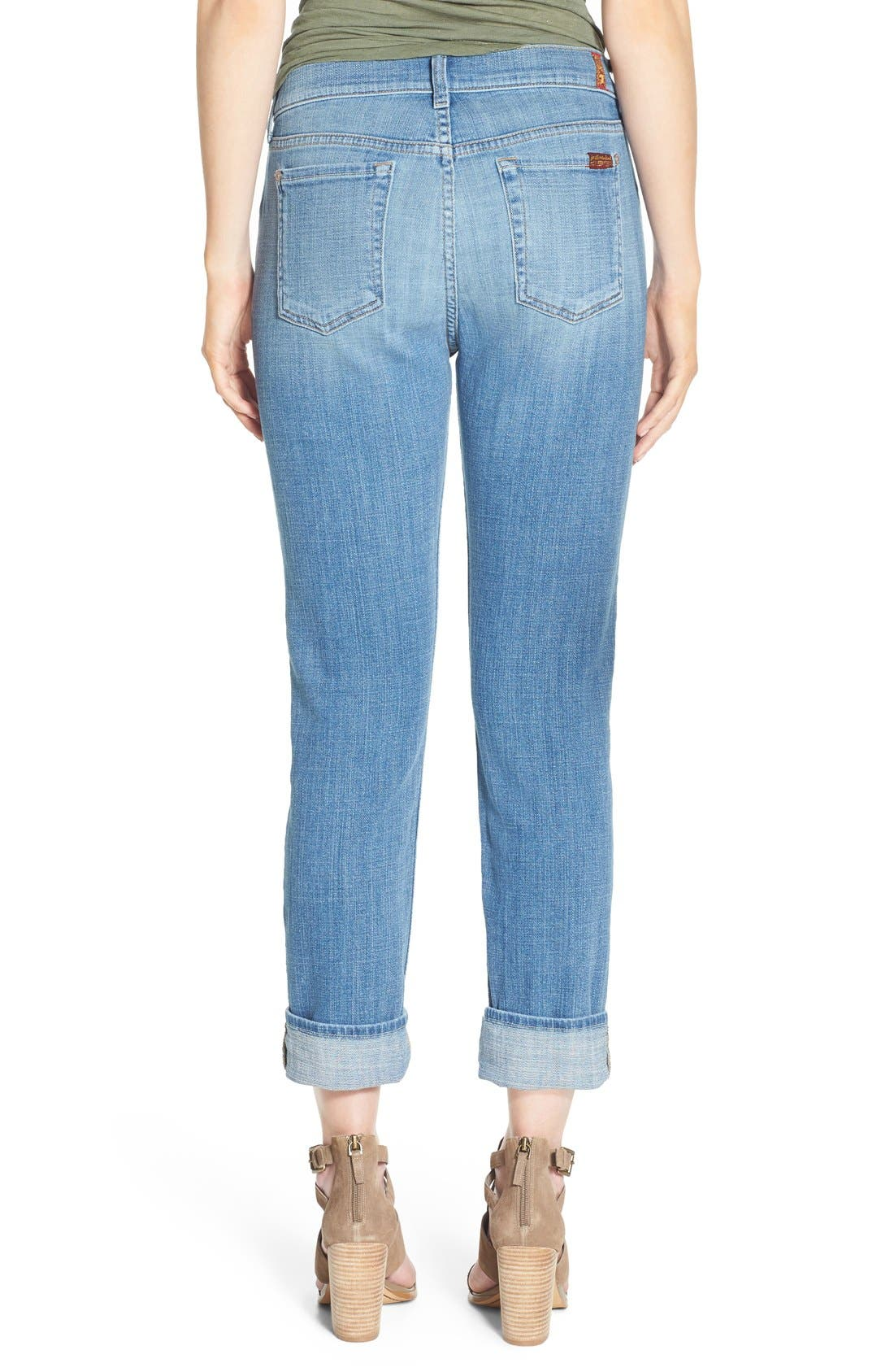 Alternate Image 2  - 7 For All Mankind® 'Josefina' Relaxed Skinny Jeans (Medium Broken Twill)