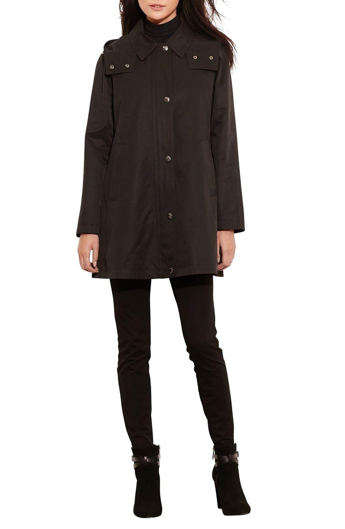 Main Image - Lauren Ralph Lauren A-Line Jacket with Removable Liner