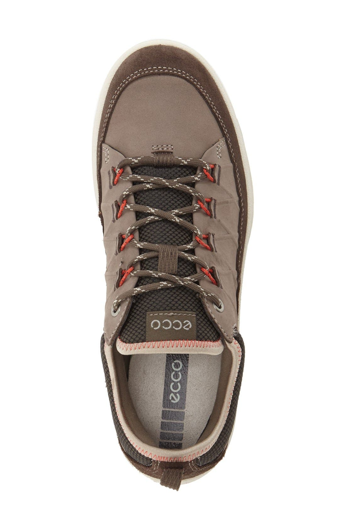 'Aspina' Sneaker,                             Alternate thumbnail 3, color,                             Dark Clay Oiled Suede