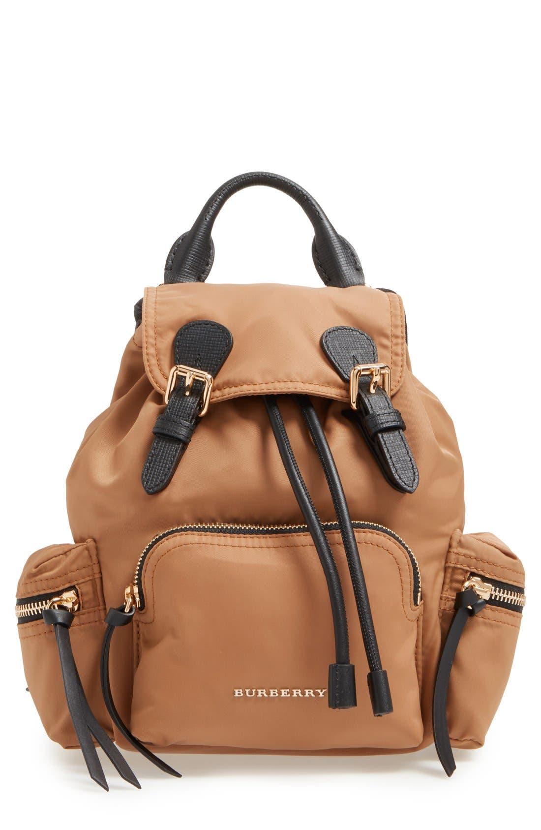 Burberry 'Small Runway Rucksack' Nylon Backpack