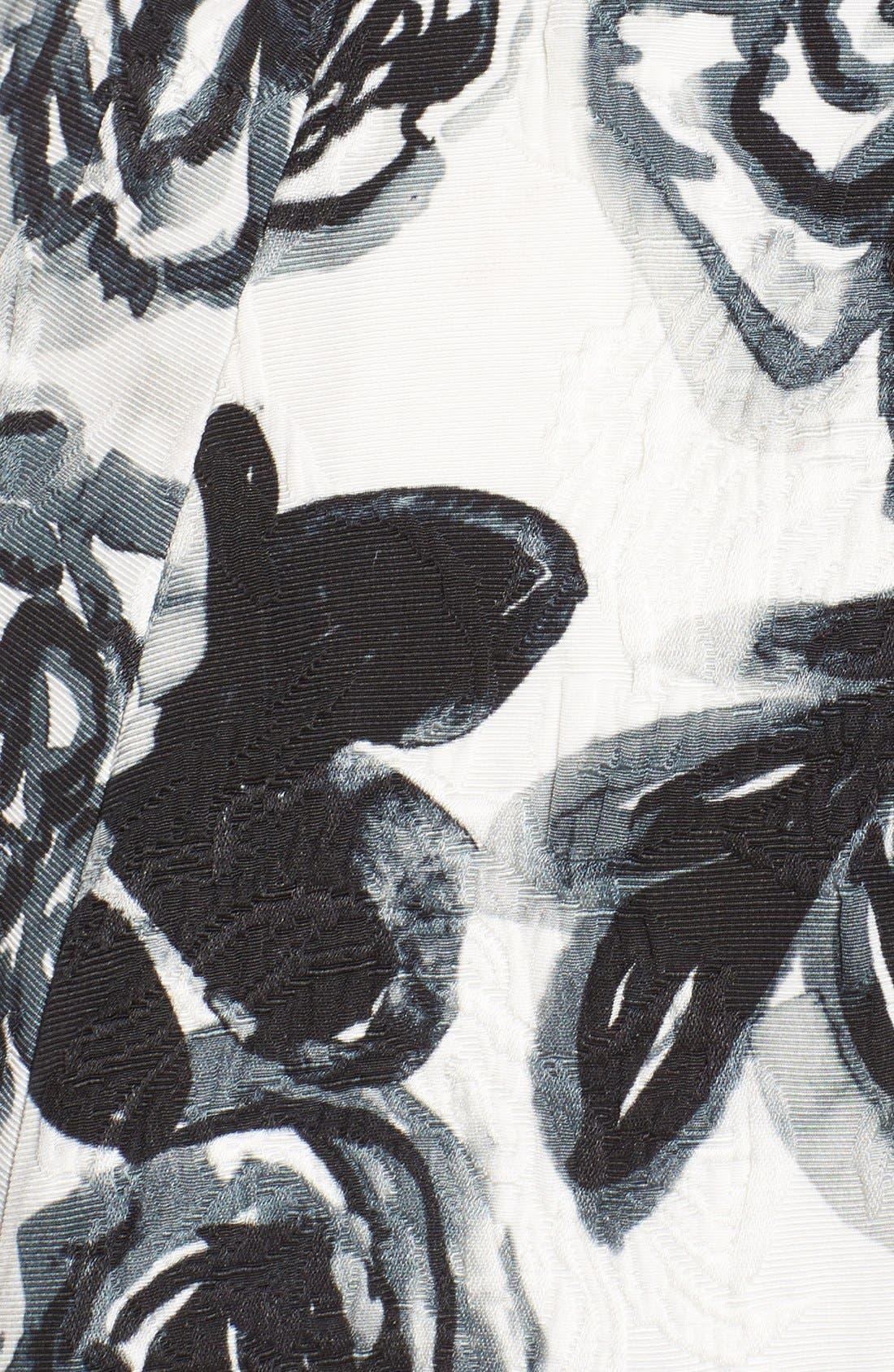 Alternate Image 6  - Sachin & Babi Noir 'Desiree' Floral Jacquard Fit & Flare Dress