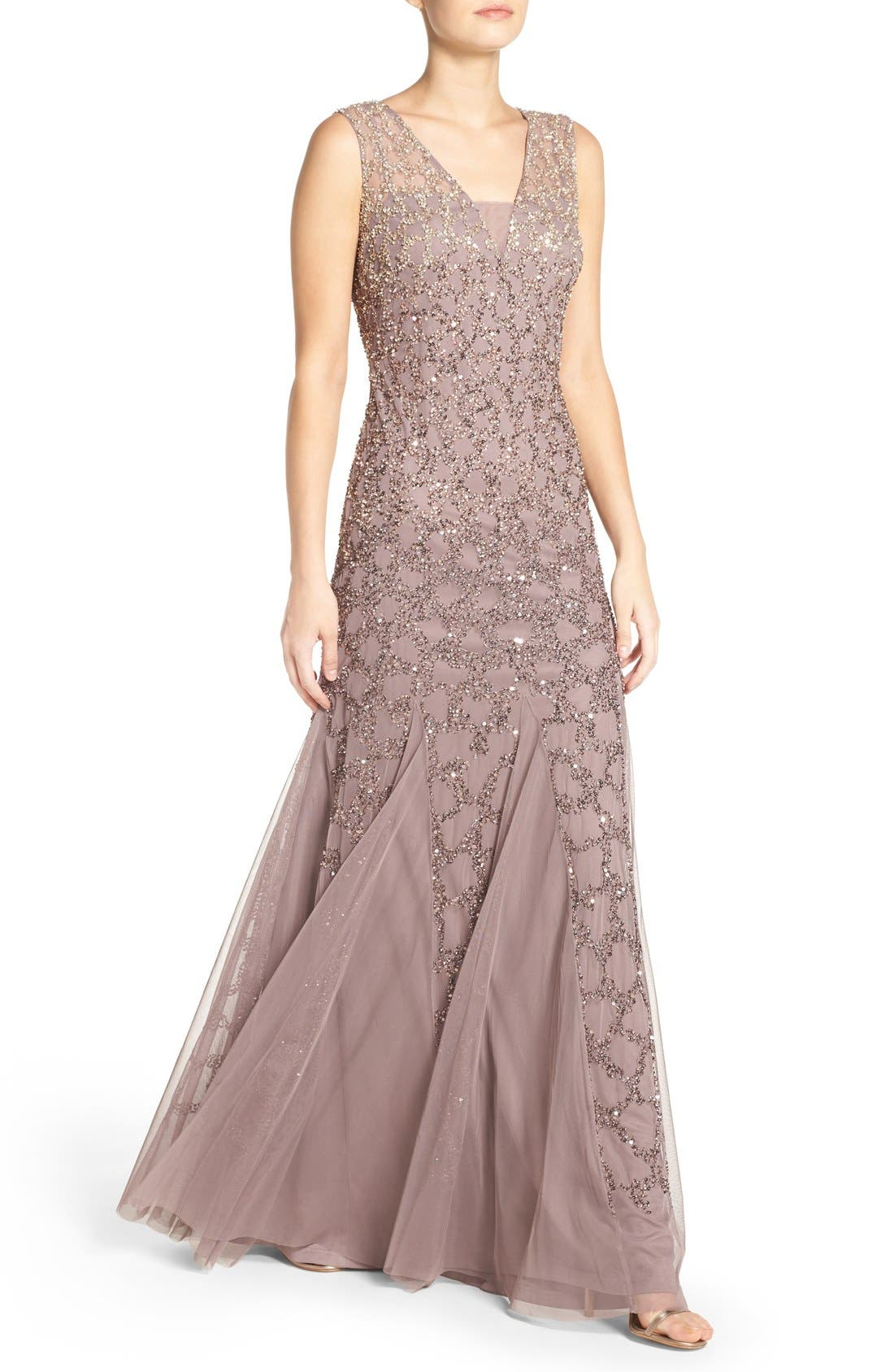 Alternate Image 4  - Adrianna Papell Pleated Beaded Gown