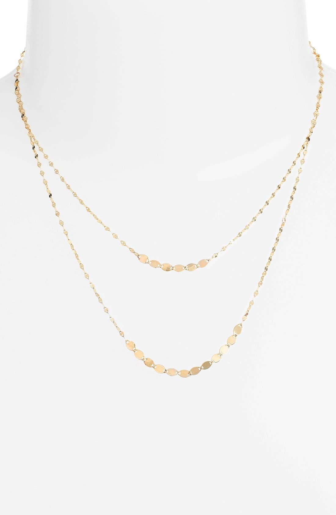 'Nude Duo' Multistrand Necklace,                         Main,                         color, Yellow Gold