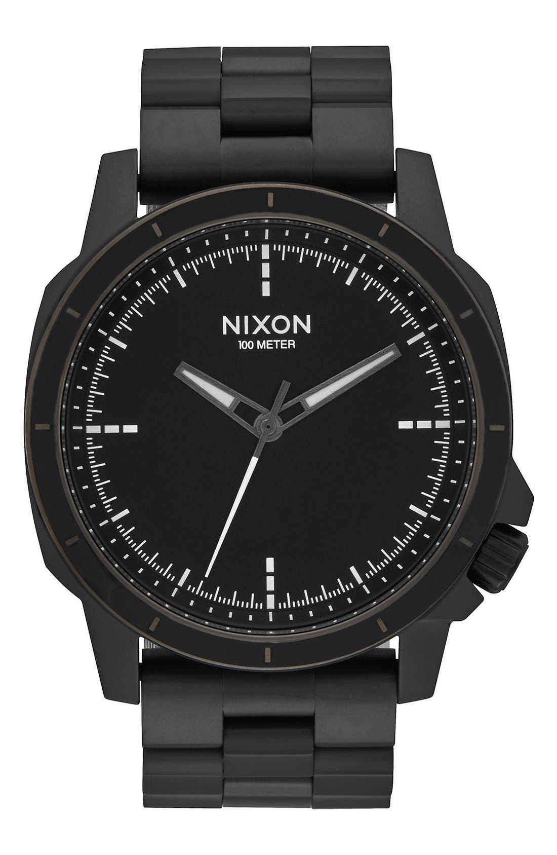 Nixon 'The Ranger Ops' Bracelet Watch, 45mm