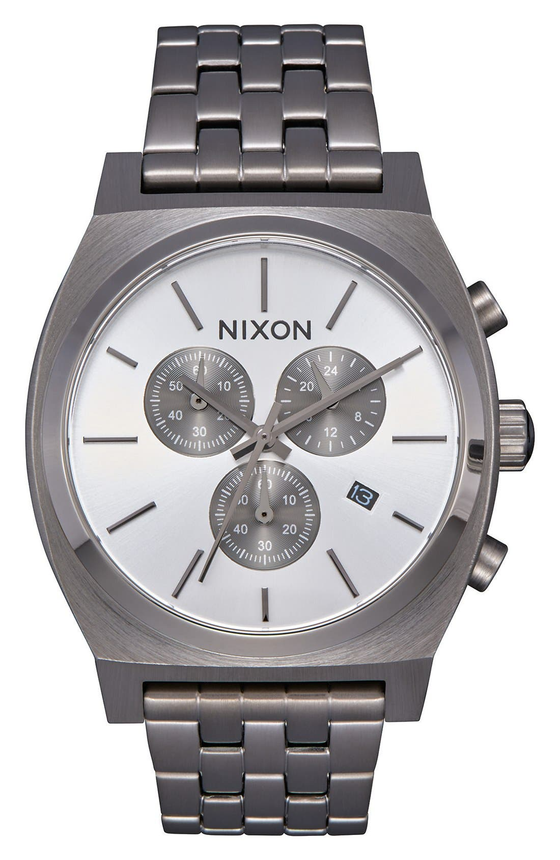 Alternate Image 1 Selected - Nixon 'The Time Teller' Chronograph Bracelet Watch, 39mm