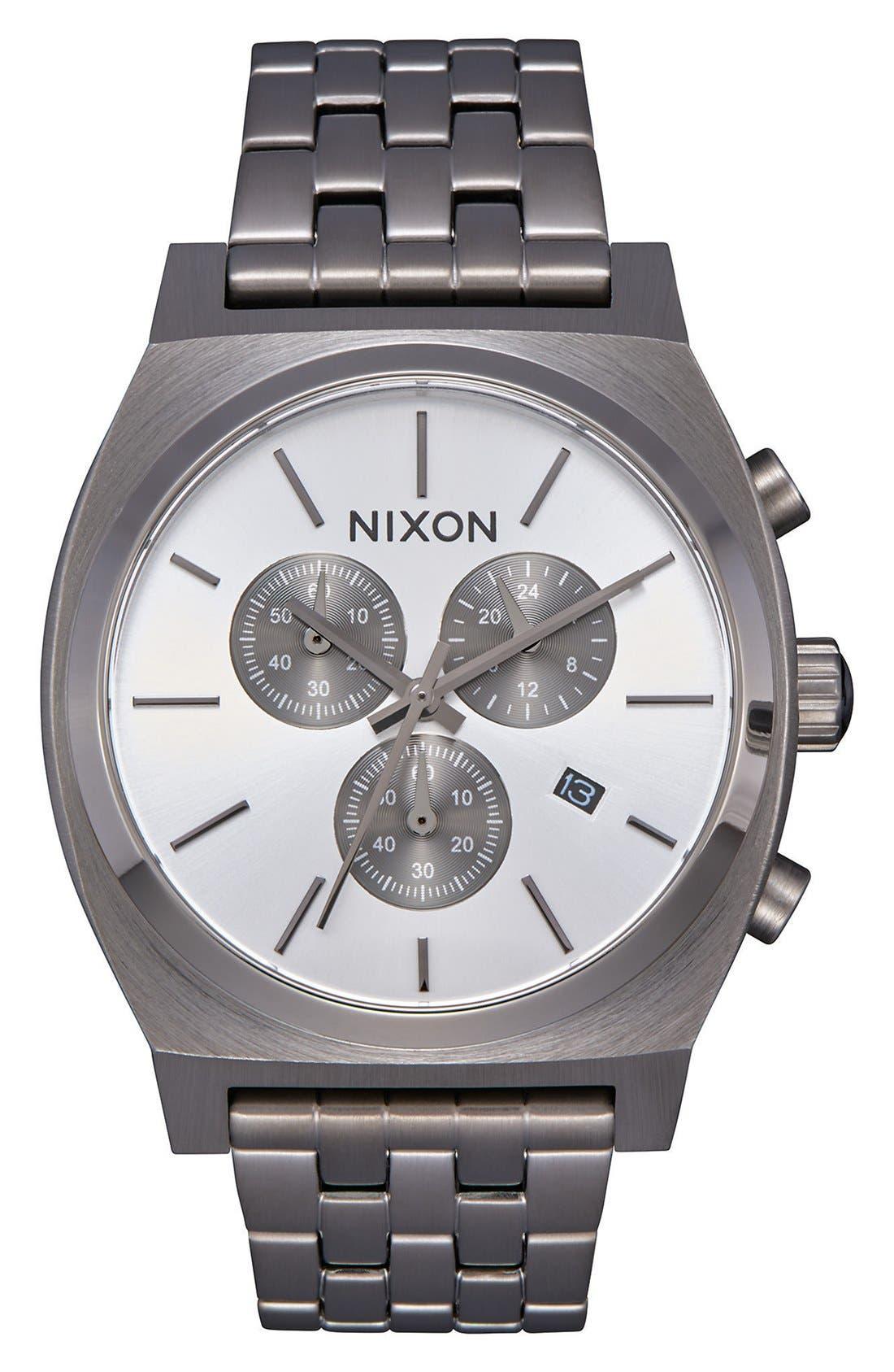 'The Time Teller' Chronograph Bracelet Watch, 39mm,                         Main,                         color, Gunmetal