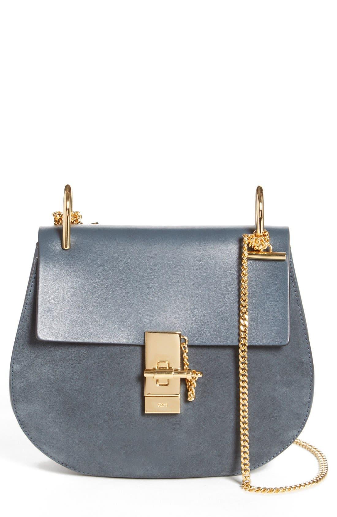 Main Image - Chloé Drew Leather & Suede Shoulder Bag