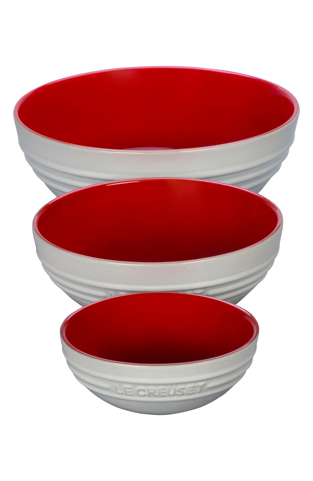 Stoneware Mixing Bowls,                             Alternate thumbnail 2, color,                             Red