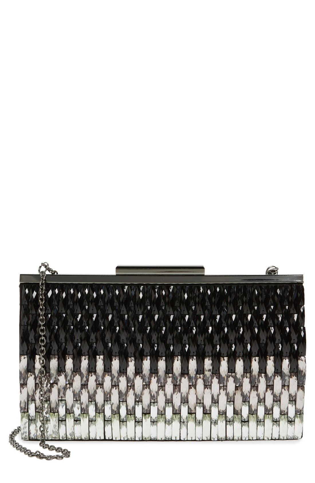Alternate Image 1 Selected - Glint Ombre Crystal Topper Clutch