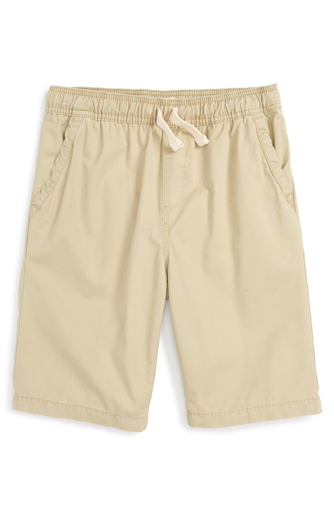Cotton Twill Shorts,                         Main,                         color, Tan Twill