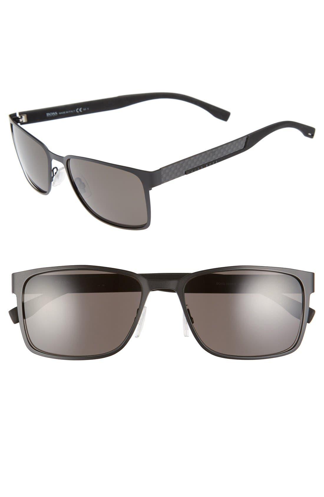 '0638/S' 58mm Sunglasses,                             Main thumbnail 1, color,                             Black Carbon