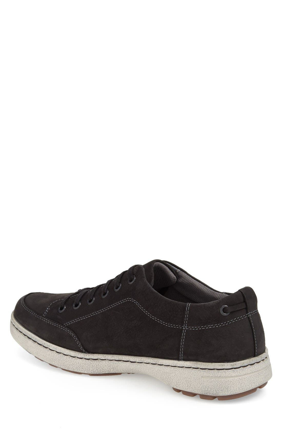 'Vaughn' Water-Resistant Sneaker,                             Alternate thumbnail 2, color,                             Black Milled Nubuck Leather