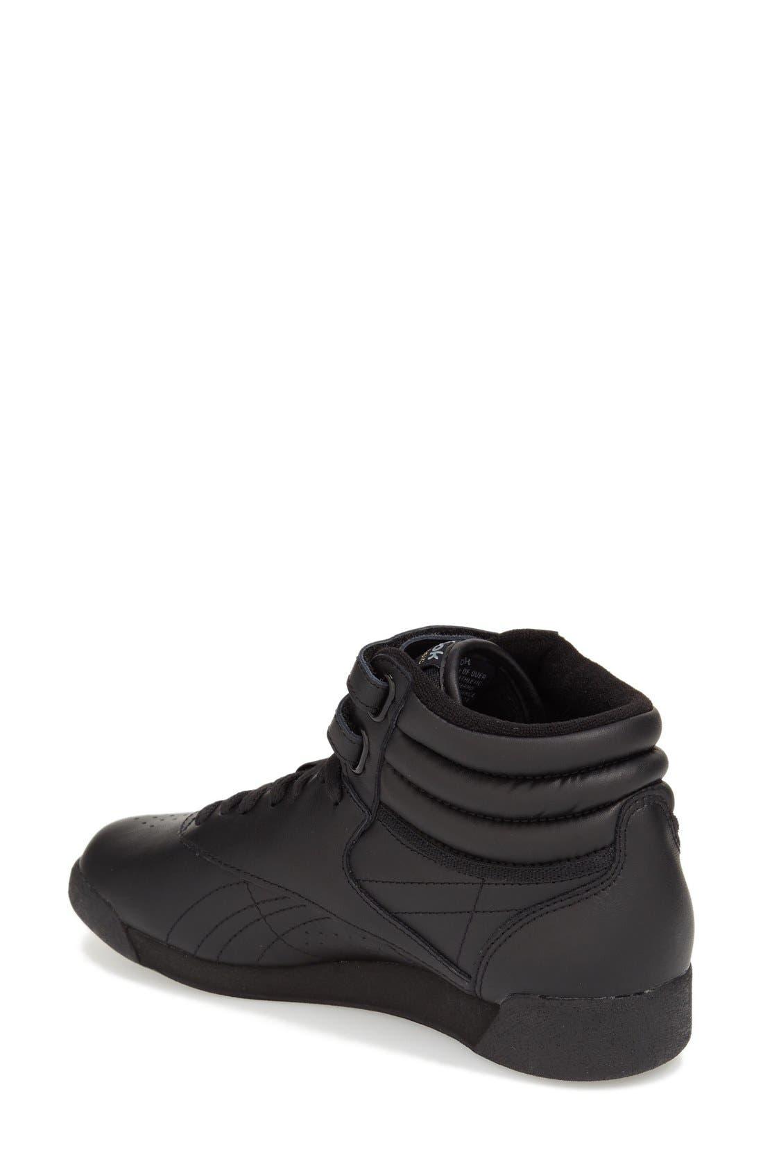 'Freestyle Hi' Sneaker,                             Alternate thumbnail 2, color,                             Black