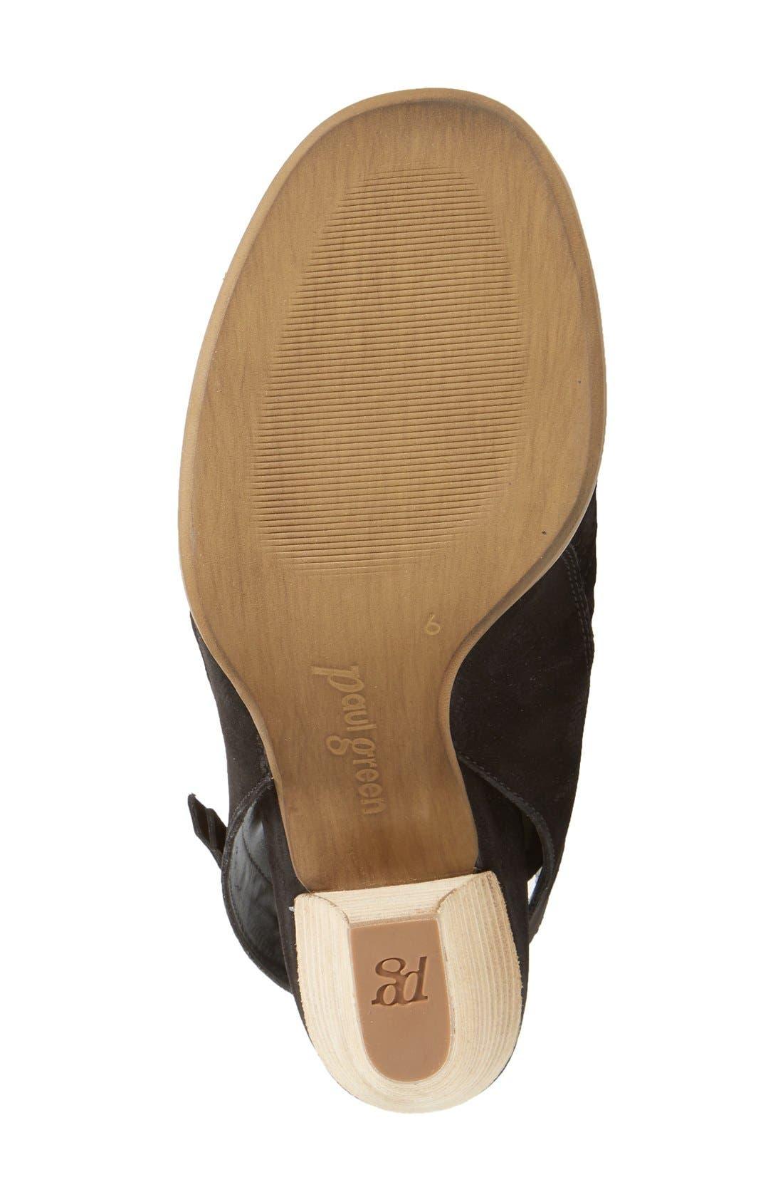 Alternate Image 4  - Paul Green 'Cayanne' Leather Peep Toe Sandal (Women)