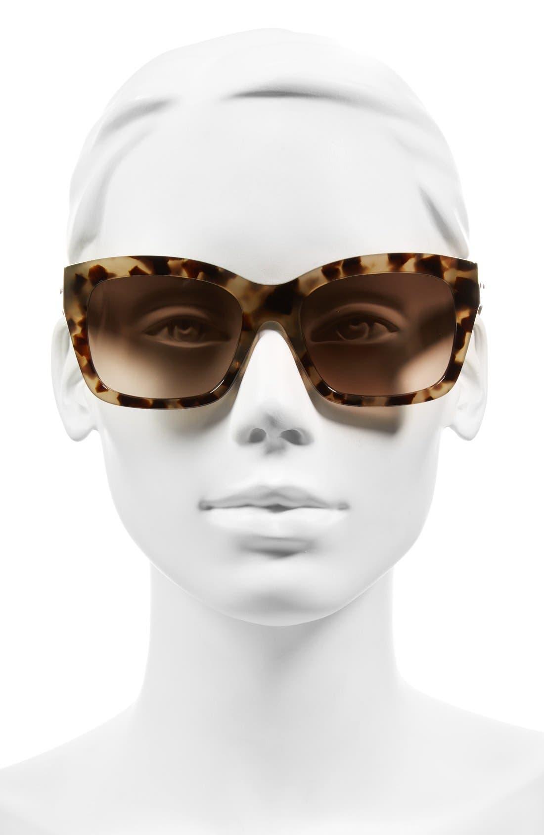 'Ava' 54mm Sunglasses,                             Alternate thumbnail 2, color,                             Khaki