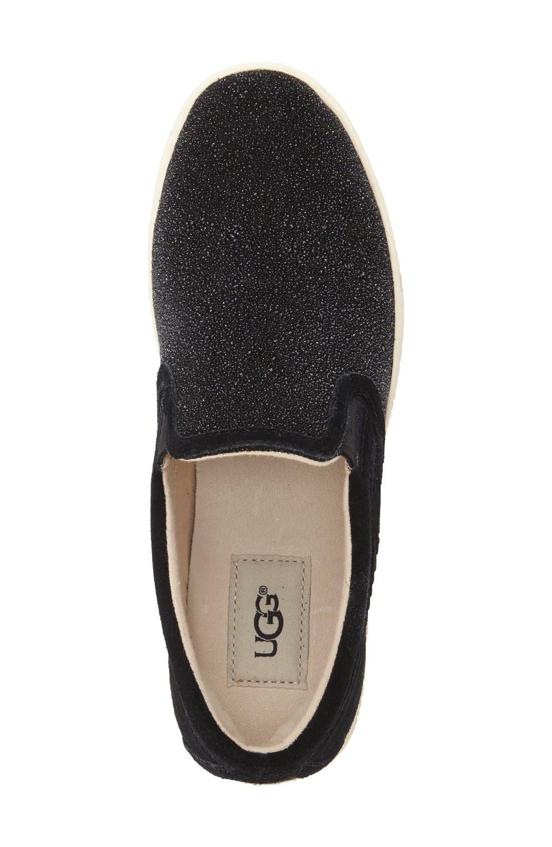Fierce Slip-On Sneaker,                             Alternate thumbnail 3, color,                             Black Fabric